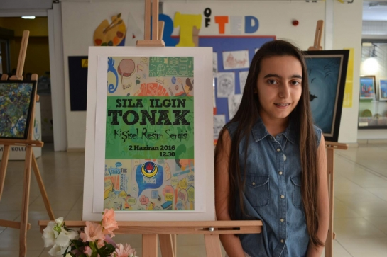The last personal art exhibition of the year opened by Sıla Ilgın TONAK, class 7C